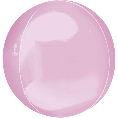 "Orbz Foil Balloon 15"" x 16"" Pastel Pink"