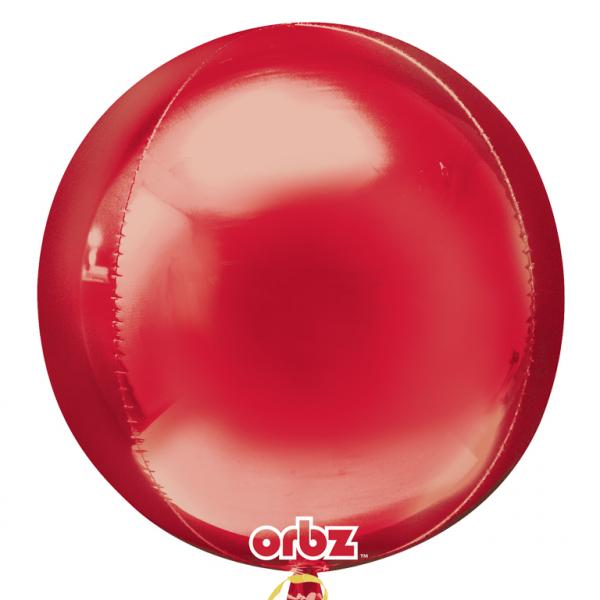 "Orbz Foil Balloon 15"" x 16"" Red"