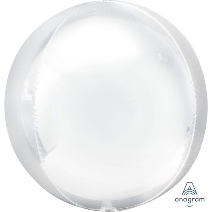 """Orbz Foil Balloon 15"""" x 16"""" White"""