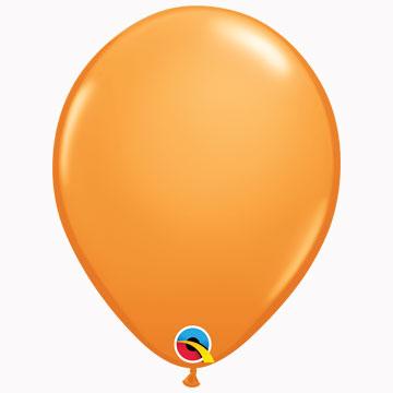 """11"""" Plain Standard Orange Latex Balloons (Pack 6)"""