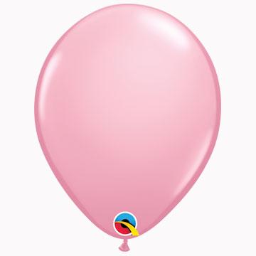 "11"" Plain Standard Pink Latex Balloons (Pack 6)"