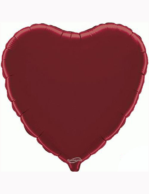 "18""-Burgundy-Heart-Foil-Balloon"