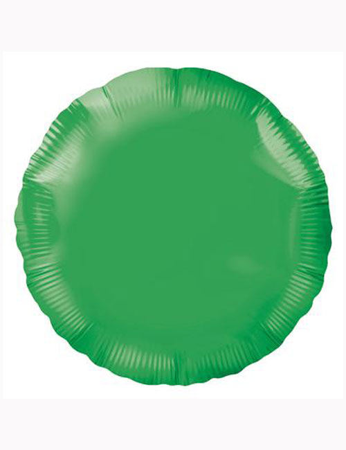 18'-Green-Round-Foil-Balloon