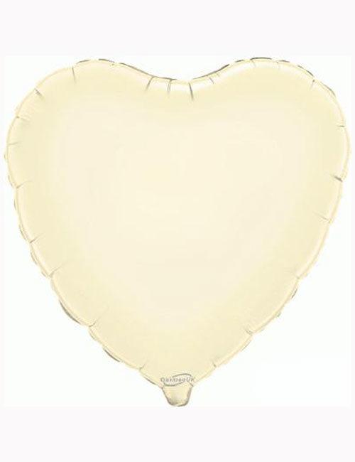 "18""-Ivory-Heart-Foil-Balloon"