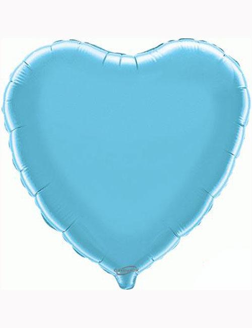 """18""""-Light-Blue-Heart-Foil-Balloon"""