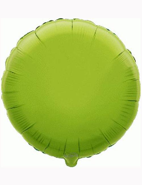 18'-Lime-Green-Round-Foil-Balloon
