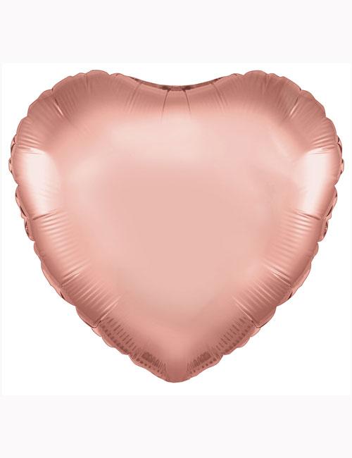 """18""""-Rose-Gold-Heart-Foil-Balloon"""