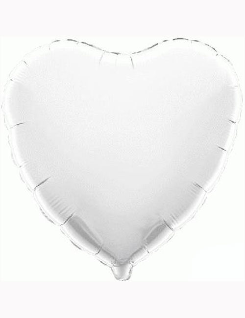 "18""-White-Heart-Foil-Balloon"