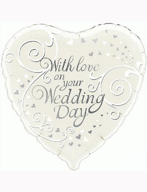 With Love on Your Wedding Day Balloon