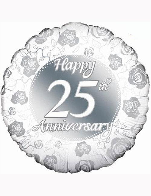 "18"" Happy 25th Anniversary Balloon"