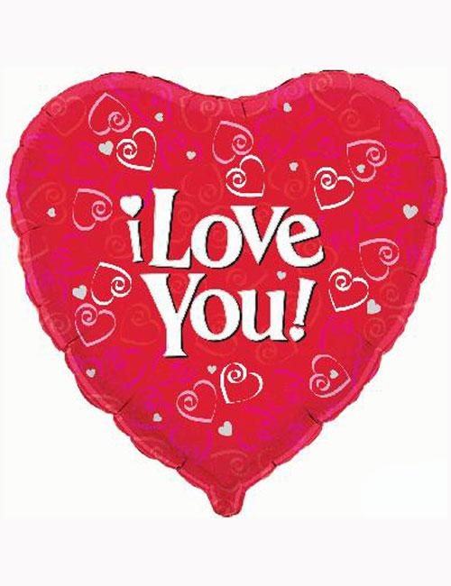 "18"" I Love You Balloon"