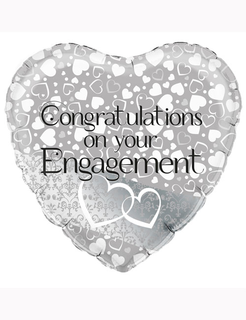 """18"""" Entwined Hearts Engagement Balloon"""