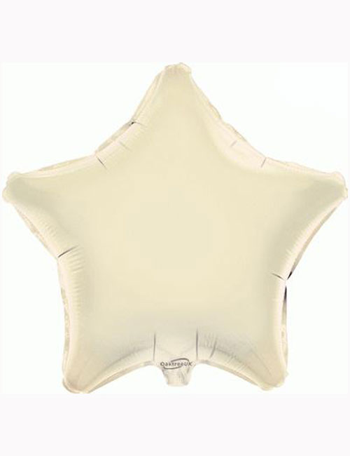 "18"" Ivory Star Foil Balloon"