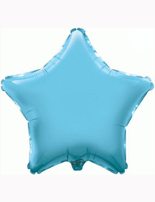 "18"" Light Blue Star Foil Balloon"