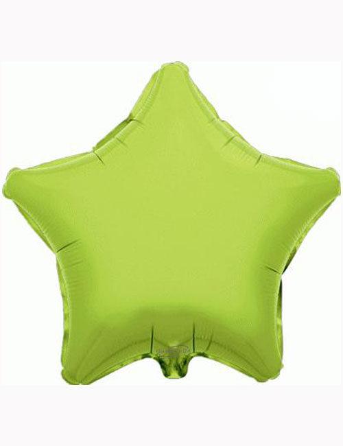 "18"" Lime Green Star Foil Balloon"