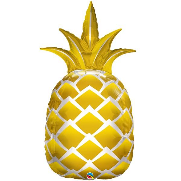 golden pineapple shape balloon