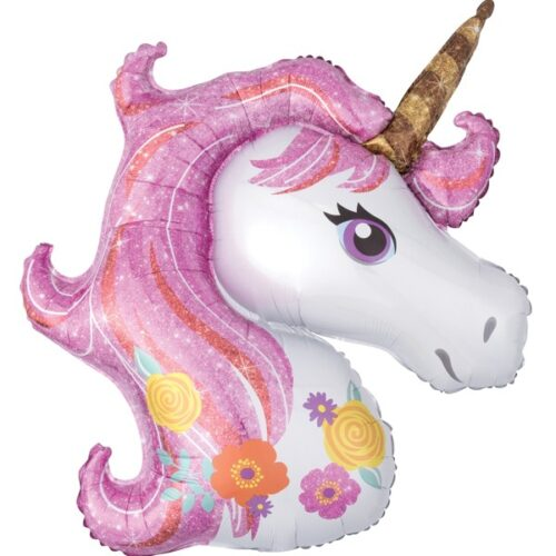 unicorn head pastel shape balloon