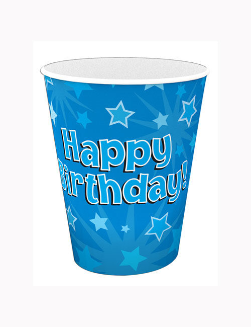 Birthday Blue Cups
