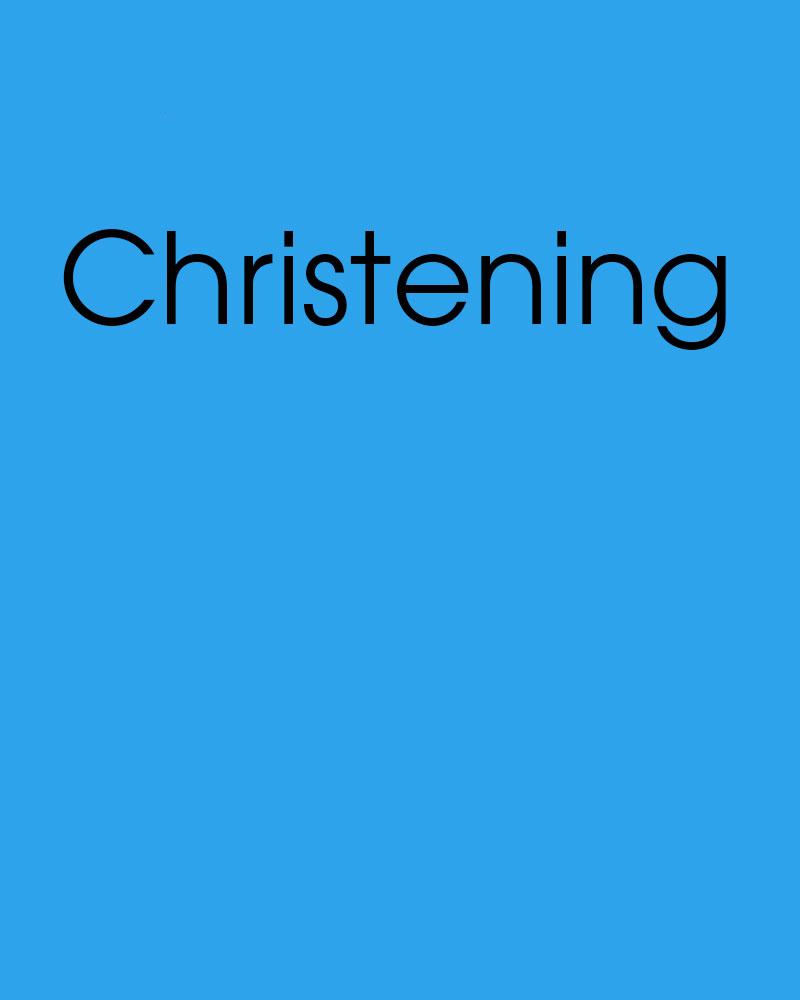 Christening Gallery
