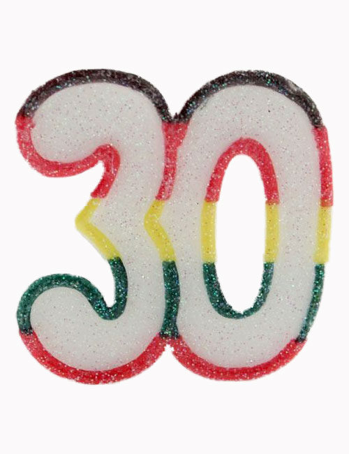Multi Number 30 Candle