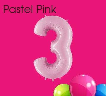 Pastel Pink Numbers