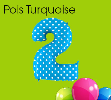 Turquoise Pois Numbers