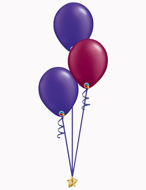 Purple Burgundy Purple Latex Balloons