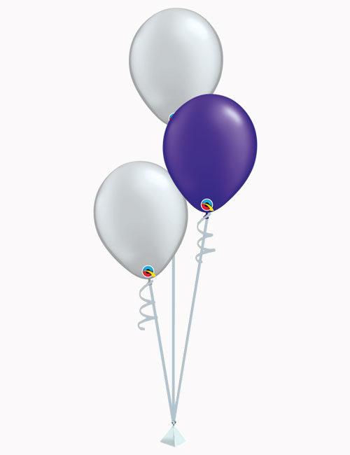 Set3 Silver Purple Silver Latex