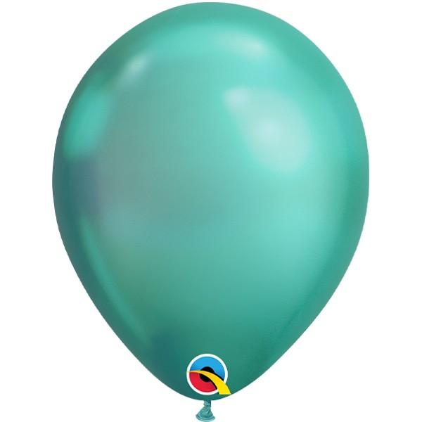 green-11-chrome-latex-balloons