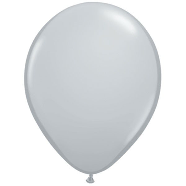 "11"" Fashion Grey Latex Balloons"