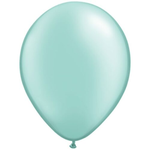 mint-green-11-pearl-latex-balloons