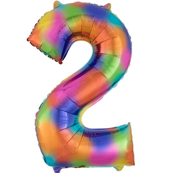 rainbow-splash-number-2-Foil Balloon