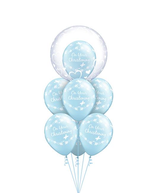 Christening Blue Balloon Bouquet