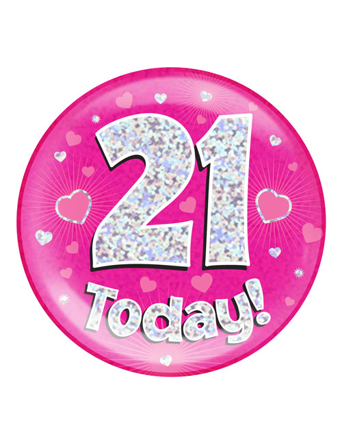 21-Today-Badge-Pink