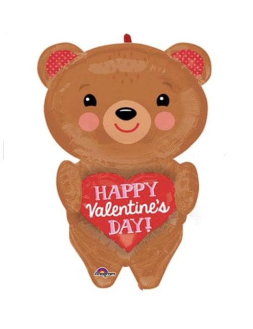 Bear With Heart Balloon