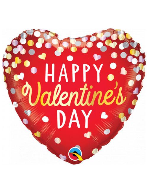 Confetti Red Valentines Day