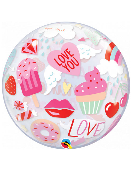 Everything Valentines Bubble Balloon