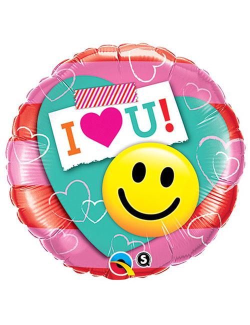 I Love You Smile Face Balloon