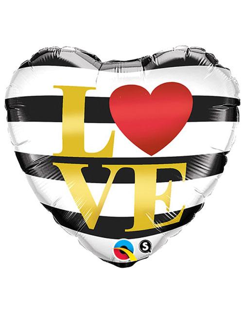 Love Horizontal Stripes Balloon