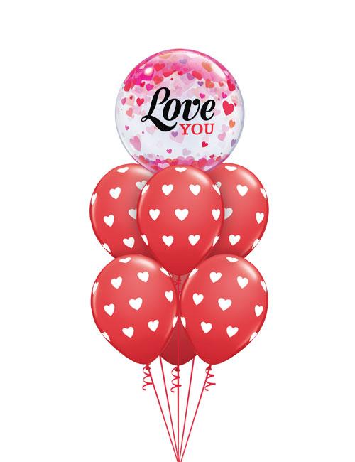 Love You Confetti Bubble Bouquet