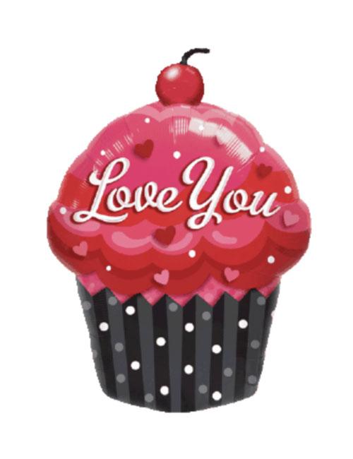Love You Cupcake Balloon