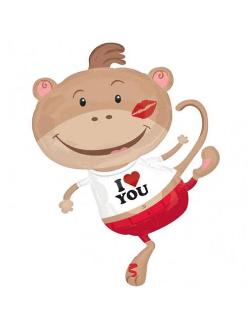 Monkey Lovin Shape Balloon