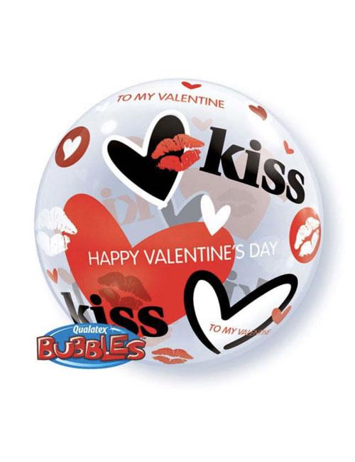 Valentines Kiss Bubble Balloon