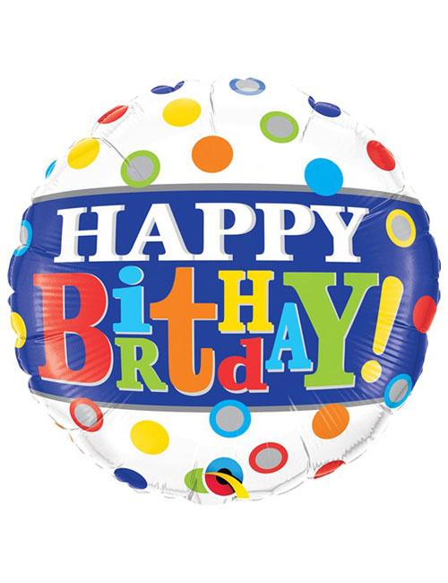 18 inch Band & Dots Birthday Balloon