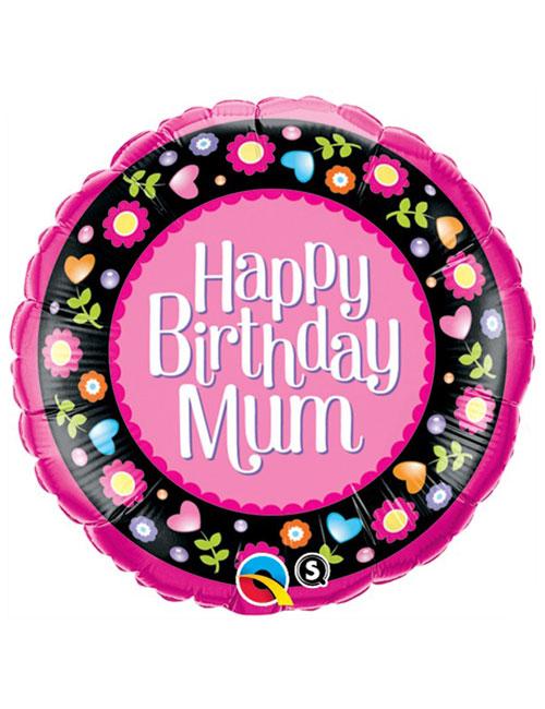 18 inch Birthday Mum Pink Flowers