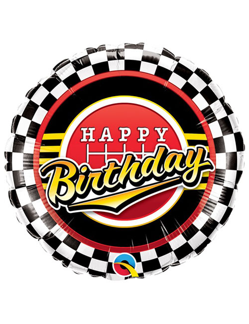 18 inch Checkered Birthday Balloon