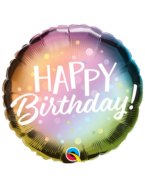 18 inch Ombre Metallic Dots Birthday Balloon