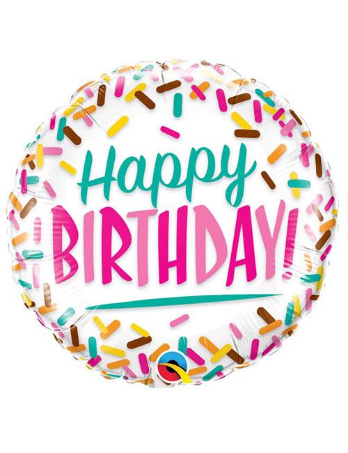 18 inch Sprinkles Birthday Balloon
