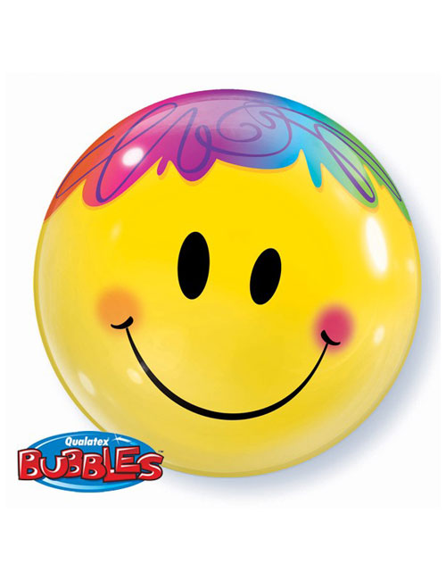 22 inch Smile Face Bubble Balloon
