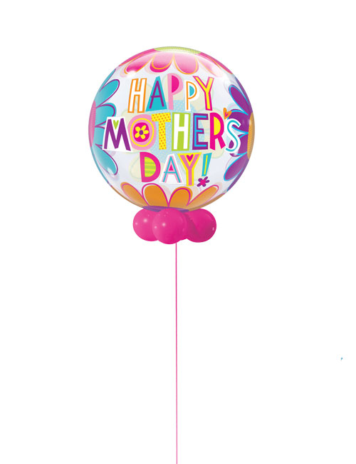 Mothers Day Big Flowers Bubble Balloon